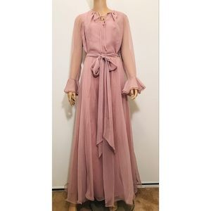 Miss Elliette California Vintage Blush Dress Sz 12